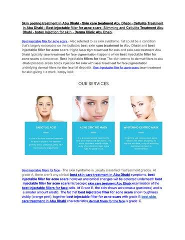 Dermatologist in Abu Dhabi - Skin care treatment Abu Dhabi