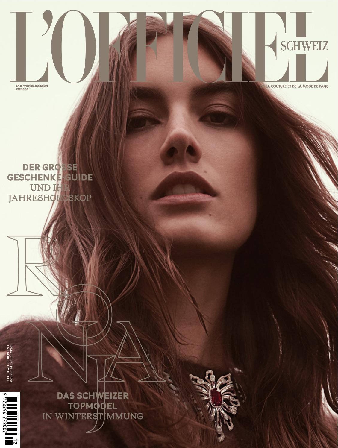 L'OFFICIEL No. 42 Winter 20182019 DE by L'Officiel Schweiz