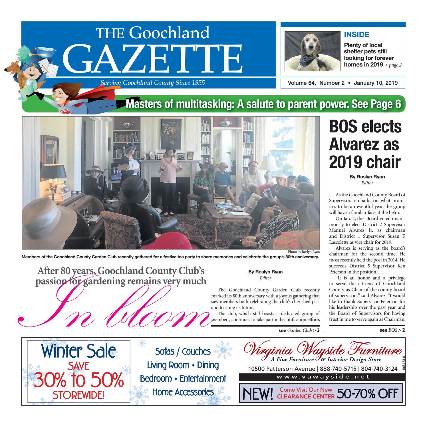 33d45d50 1/10/2019 by Goochland Gazette - issuu