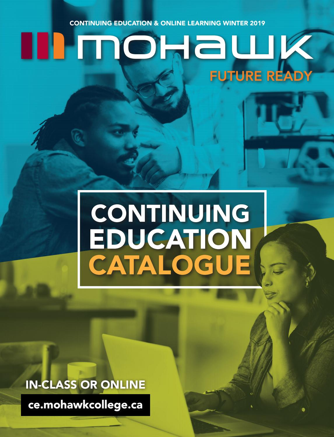 Mohawk College Continuing Education Catalogue Winter 2019 by Mohawk College  - issuu