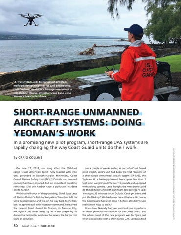 Page 54 of SHORT RANGE UNMANNED AIRCRAFT SYSTEMS: DOING YEOMAN'S WORK, In a promising new pilot program, short range UAS systems are rapidly changing the way coast guard units do their work.