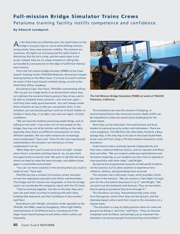 Page 64 of Full-mission Bridge Simulator Trains Crews, Petaluma training facility instills competence and confidence.