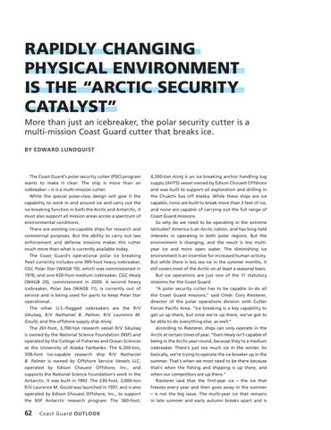 """Page 66 of RAPIDLY CHANGING PHYSICAL ENVIRONMENT IS THE """"ARCTIC SECURITY CATALYST"""""""