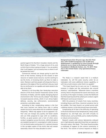 """Page 67 of RAPIDLY CHANGING PHYSICAL ENVIRONMENT IS THE """"ARCTIC SECURITY CATALYST"""""""