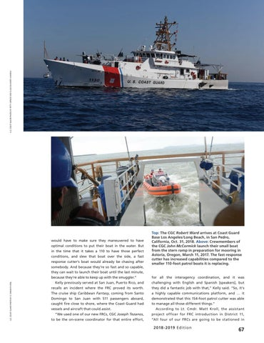Page 71 of FAST RESPONSE CUTTERS REQUIRE A NEW MINDSET, The Sentiel class is a solid ride.