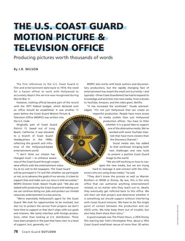 Page 82 of THE U.S. COAST CUARD MOTION PICTURE & TELEVISION OFFICE, Producing pictures worth thousands of words