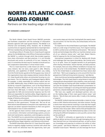 Page 86 of NORTH ATLANTIC COAST GUARD FORUM, Partners on the leading edge of their mission areas
