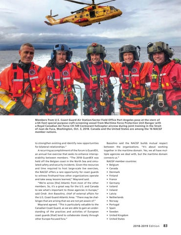 Page 87 of NORTH ATLANTIC COAST GUARD FORUM, Partners on the leading edge of their mission areas