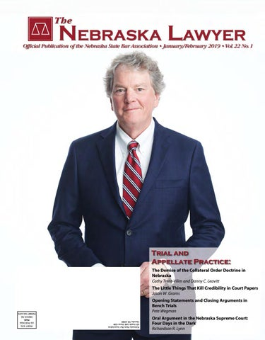 The Nebraska Lawyer Magazine January/February 2019 by Elisa