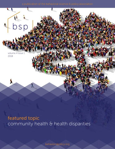 BSP Volume 4 Issue 1 2018 by Behavioral Science & Policy - issuu