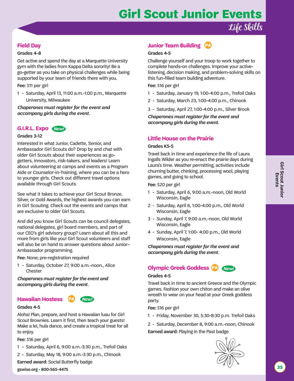 Connections 2018-2019 by Girl Scouts of Wisconsin Southeast