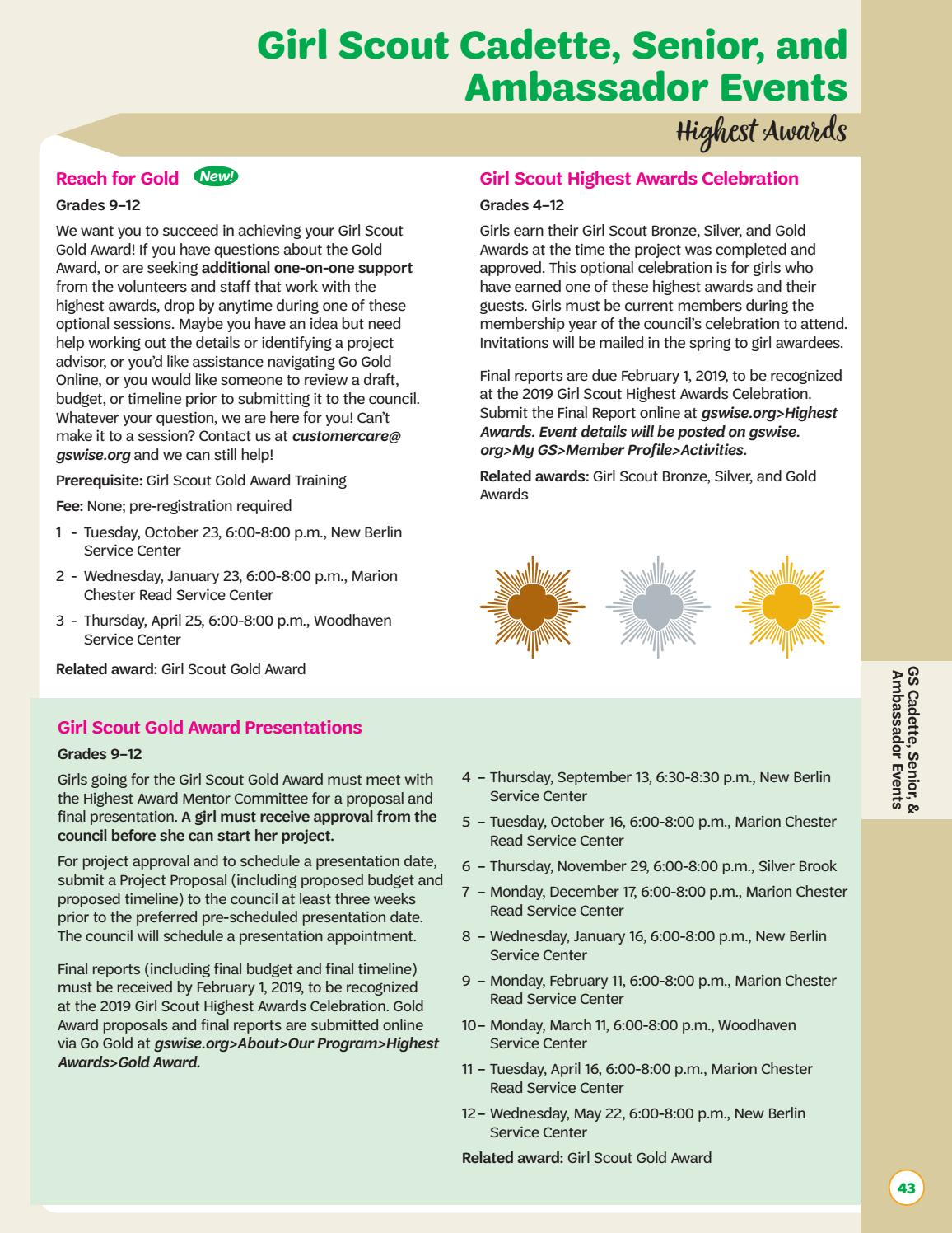 bf90bc944 Connections 2018-2019 by Girl Scouts of Wisconsin Southeast - issuu