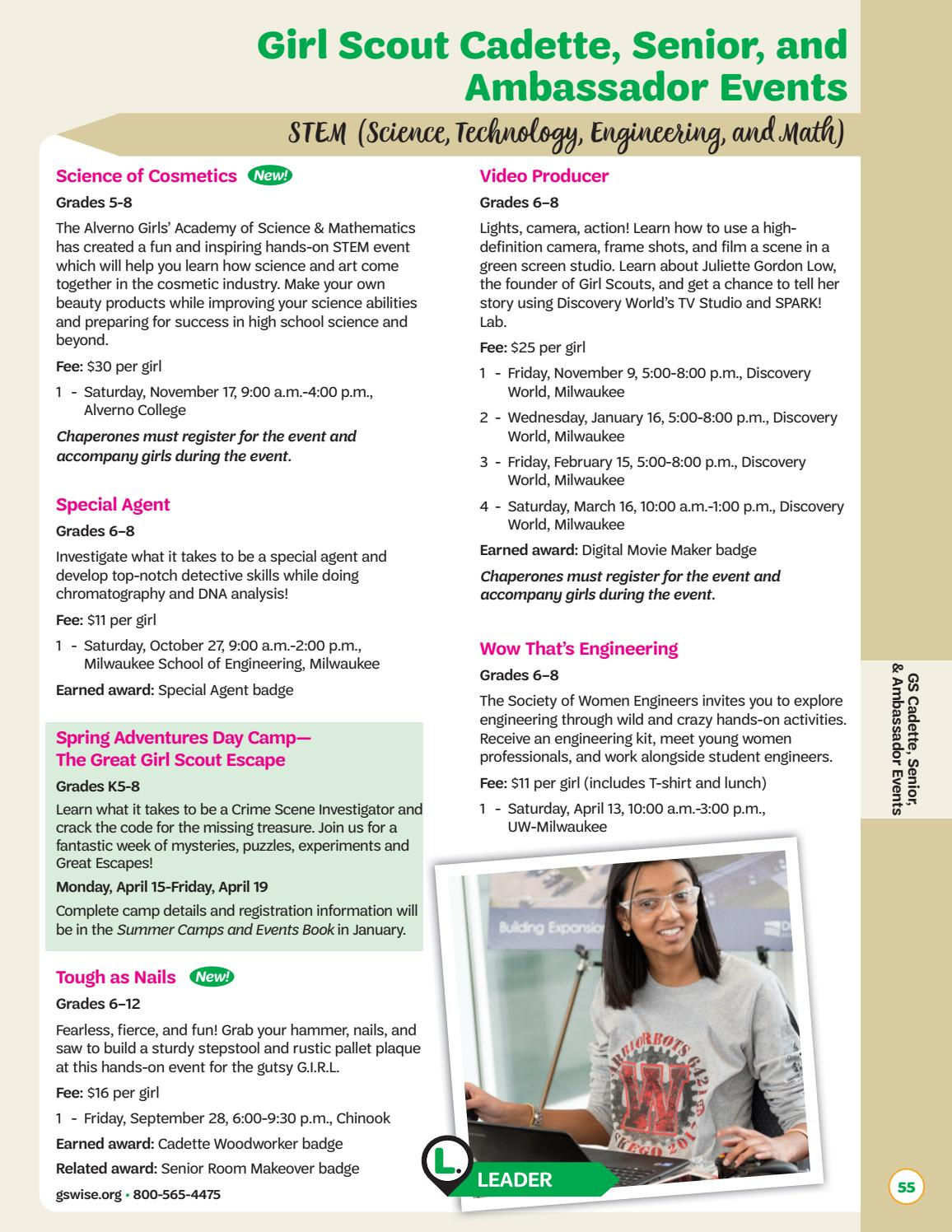 Connections 2018-2019 by Girl Scouts of Wisconsin Southeast - issuu