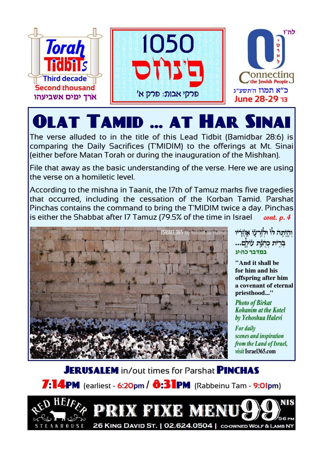 Torah Tidbits Sample Issue by Bizness Magazine - issuu