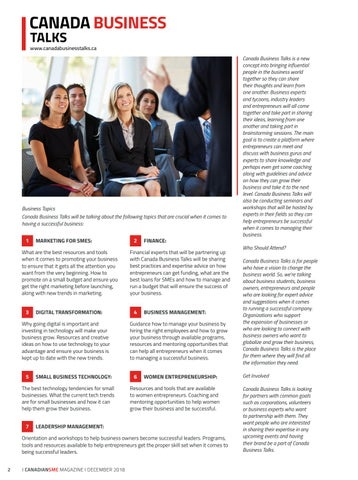 Page 2 of Canada Business Talks