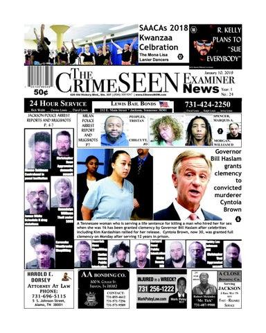 The CrimeSEEN Examiner News January 10, 2019 by CrimeSEEN Examiner