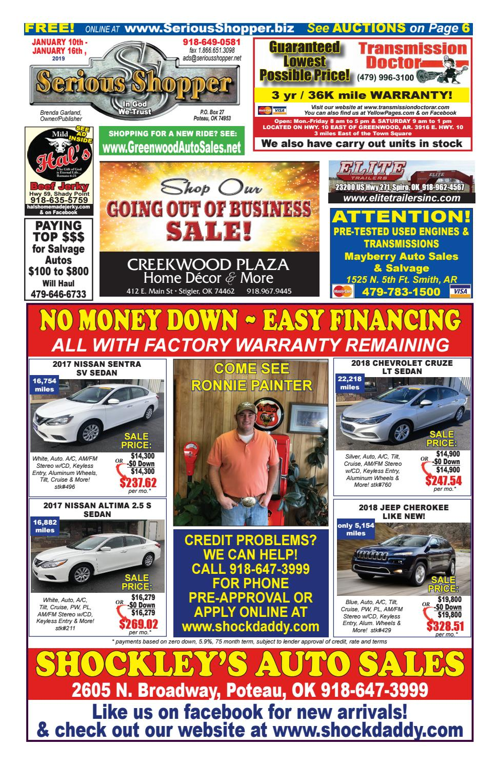 Shockley Auto Sales >> Serious Shopper 1 10 2019 By Serious Shopper Issuu