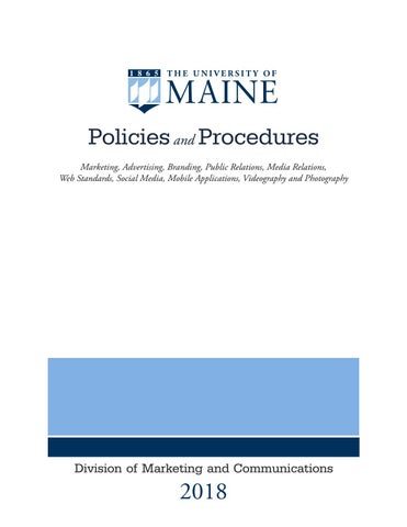 Policies and Procedures by University of Maine - issuu