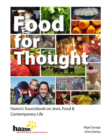 Food for Thought by Hazon - issuu
