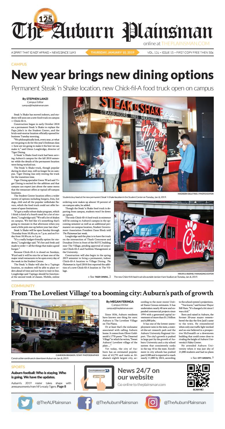 The Auburn Plainsman 01 10 2019 by The Auburn Plainsman - issuu
