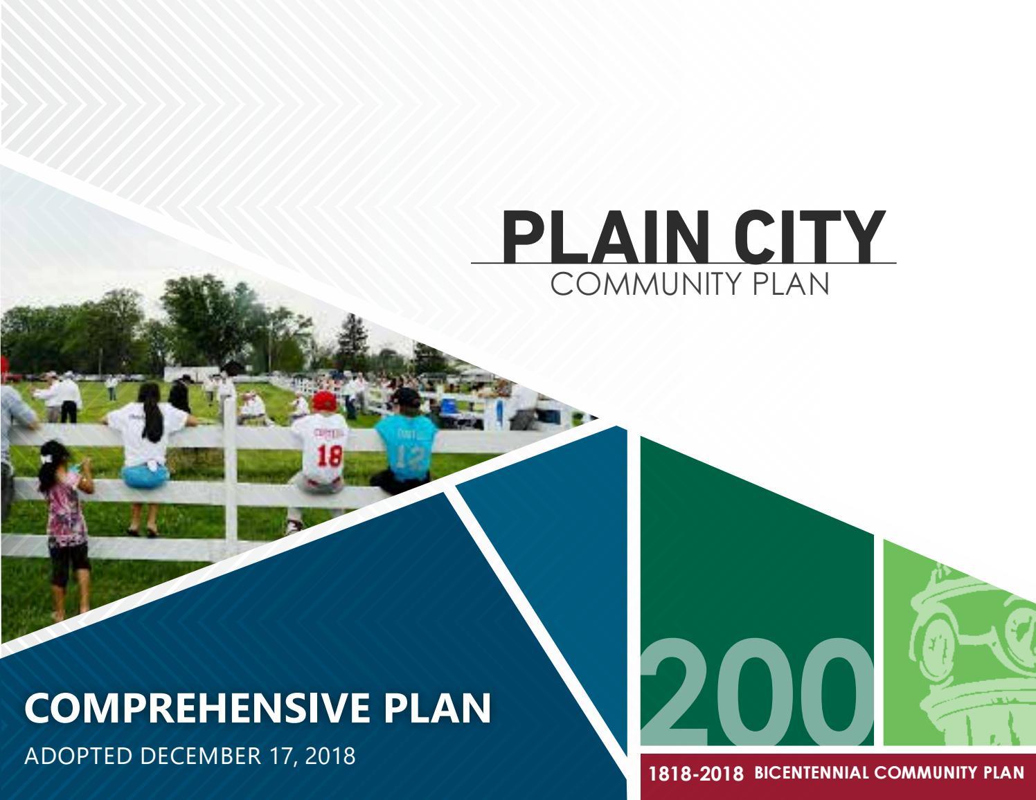 Plain City 2018 Bicentennial Community Plan Comprehensive Plan By Devon Mayhugh Issuu