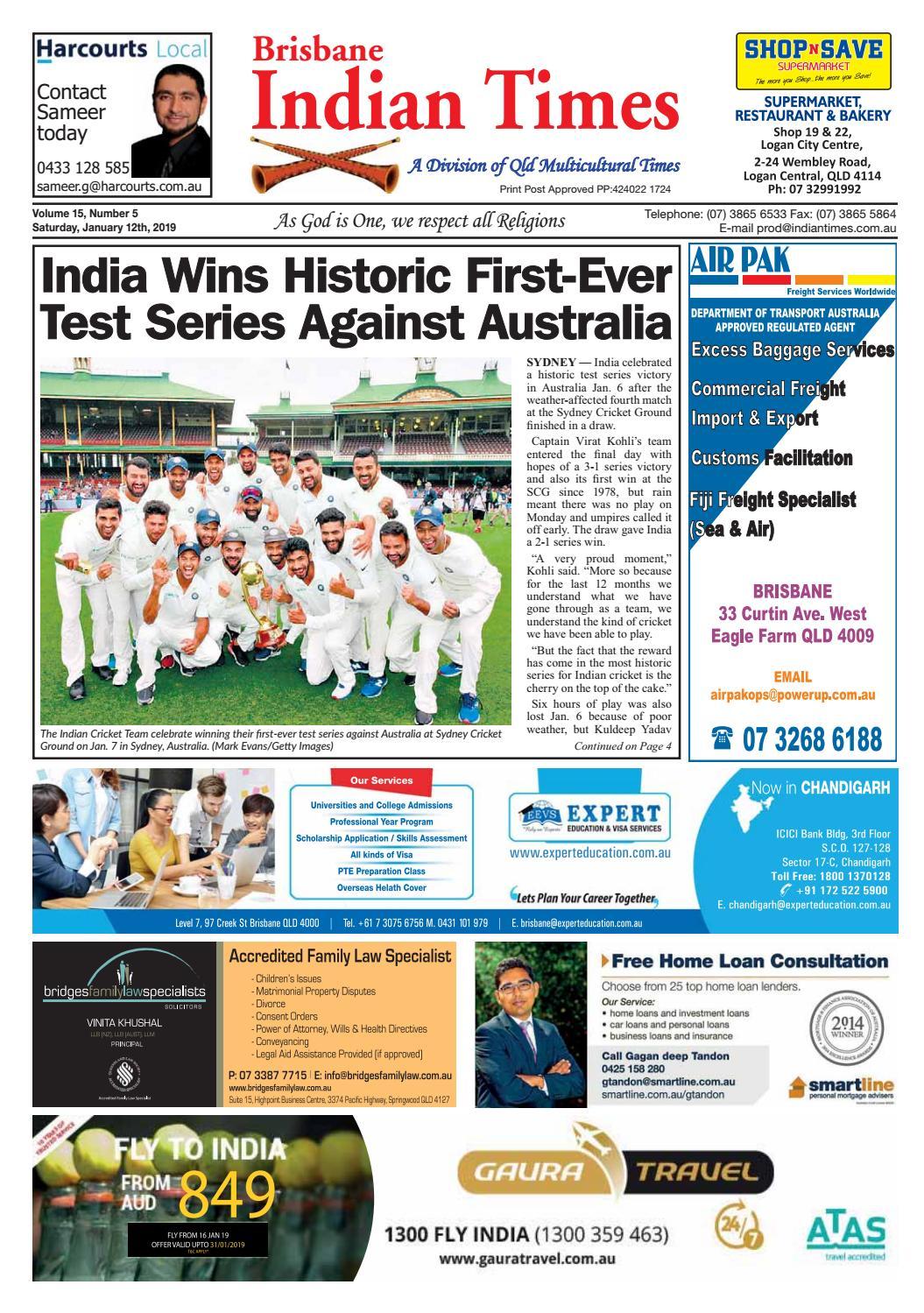 Brisbane Indian Times - January 2019 by Umesh Chandra - issuu