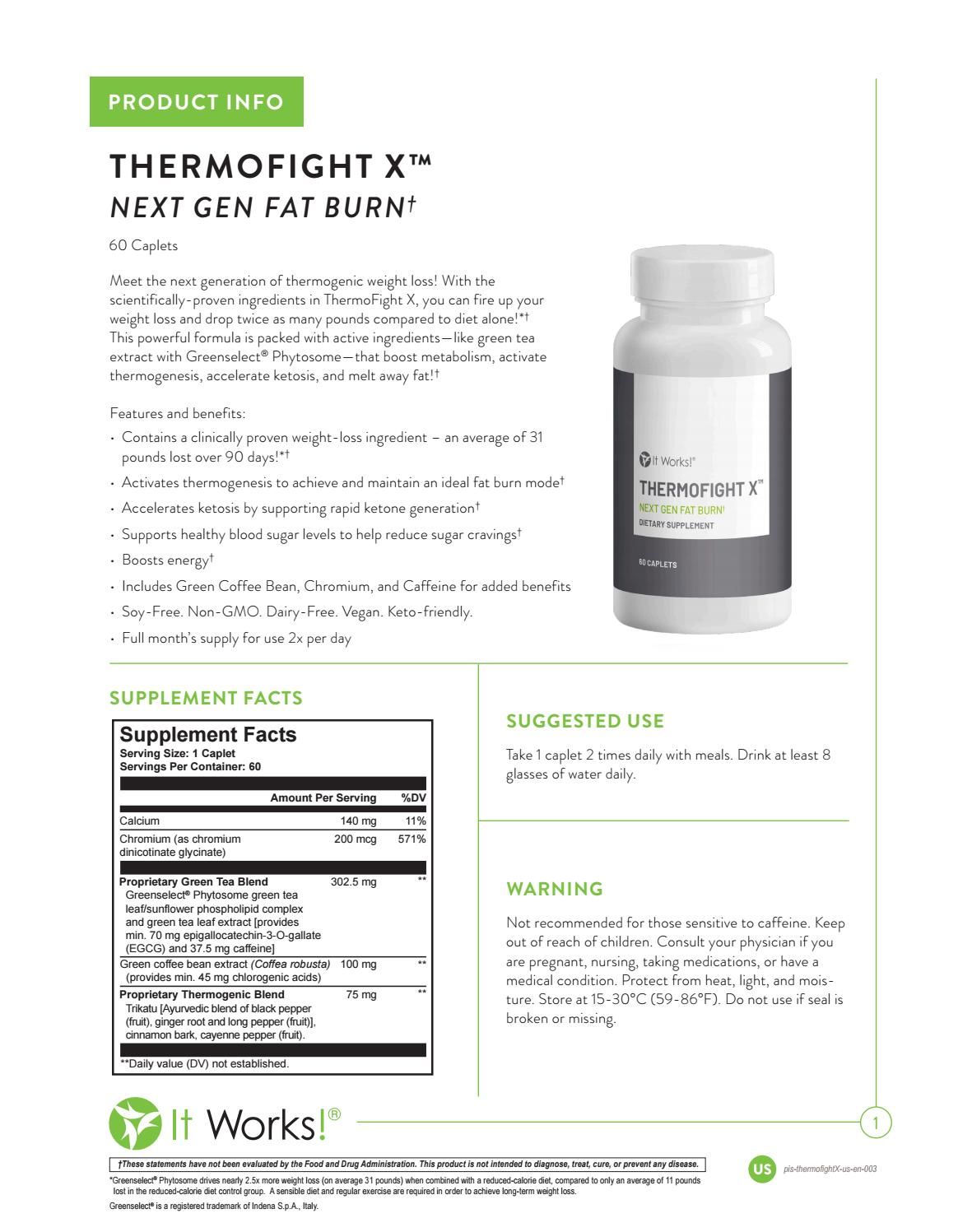IT WORKS THERMOFIGHT X By Fabbodywrap