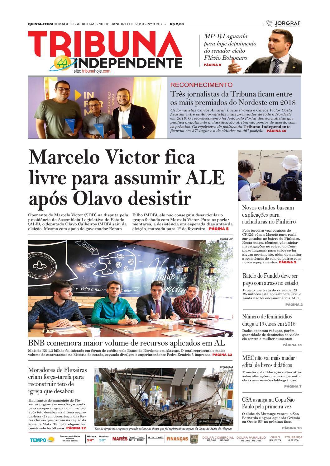 028f66e2650 Edição número 3307 – 10 de janeiro de 2019 by Tribuna Hoje - issuu