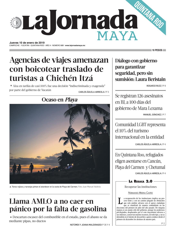 4a337d325b85 La Jornada Maya · jueves 10 de enero de 2019 by La Jornada Maya - issuu