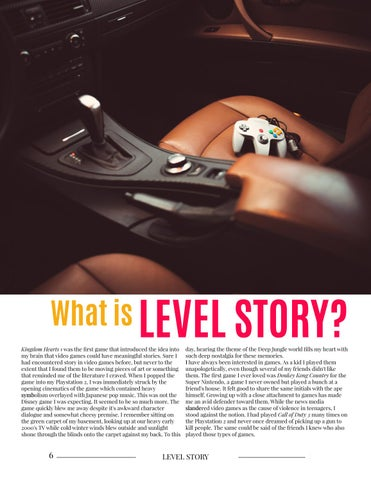 Page 6 of What is Level Story?