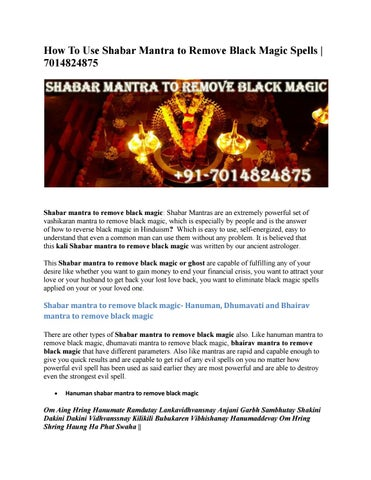 How To Use Shabar Mantra to Remove Black Magic Spells