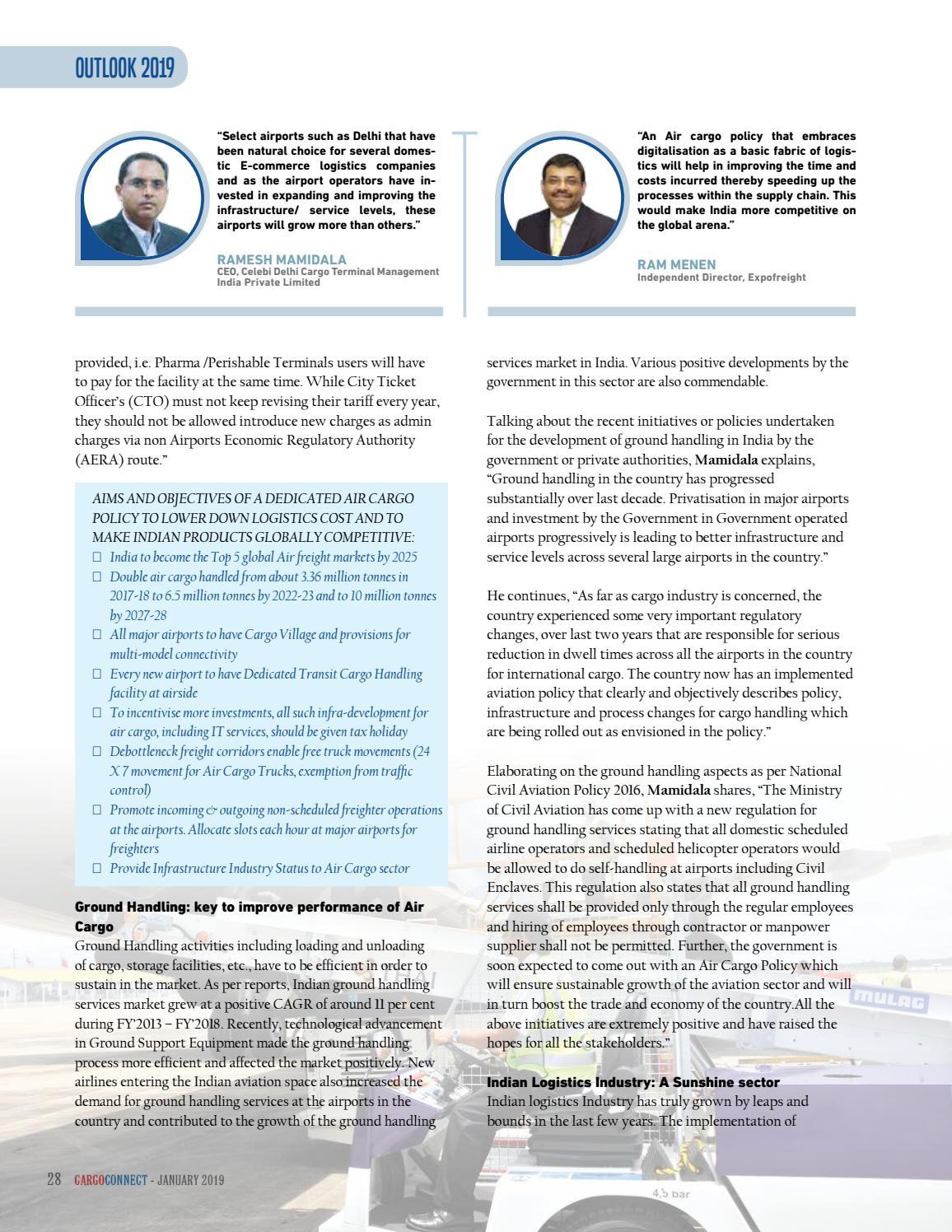 Cargo Connect January 2019 by upamanyu surecommedia - issuu