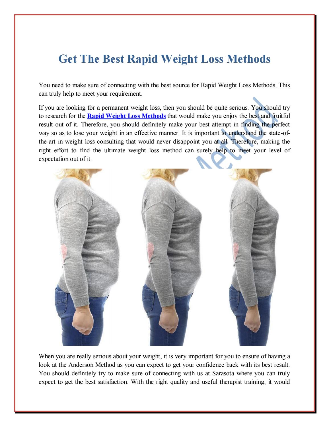Get The Best Rapid Weight Loss Methods by theandersonmethod - issuu