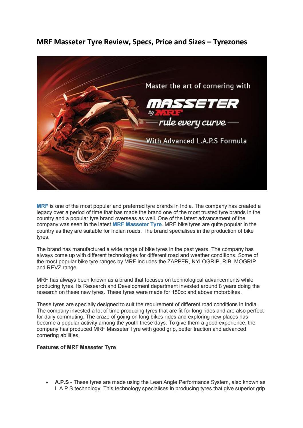 Image Of Mrf Zapper Bike Tyres Price In India MRF ZAPPER C 12080 R17