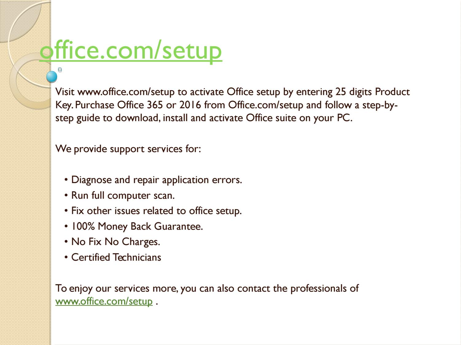 How to install and setup Microsoft Office
