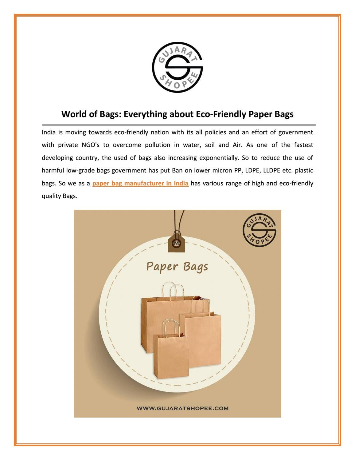 Paper Bags Manufacturers in India | PP Bags Manufacturer in