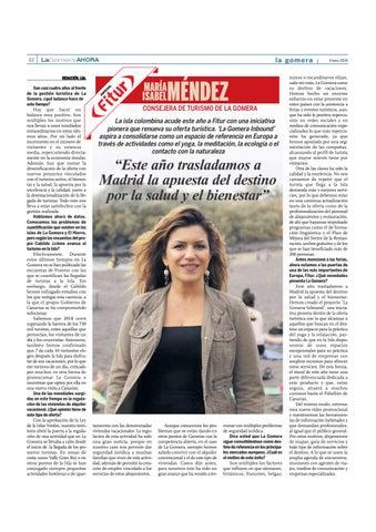 """Page 26 of María Isabel Méndez, consejera de Turismo de La Gomera: """"Este año trasladamos a Madrid la apuesta del destino por la salud y el bienestar"""""""