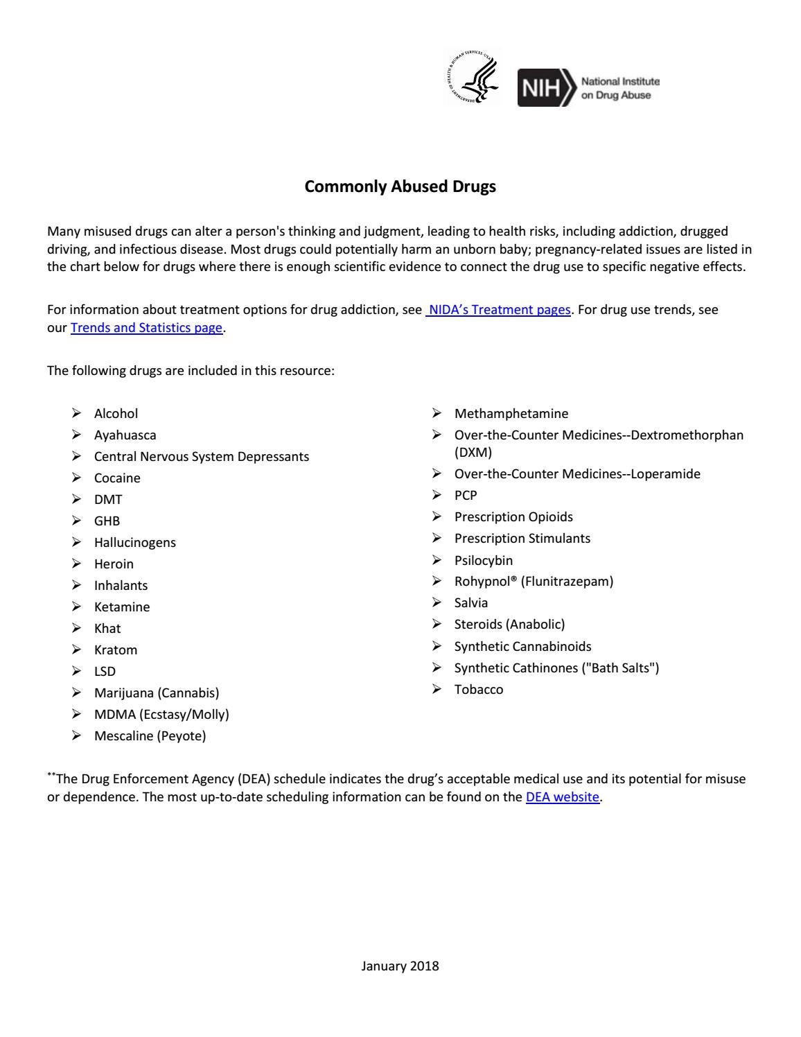 Commonly Abused Drugs Charts by RISE4WAR COMMUNITY LITERATURE - issuu