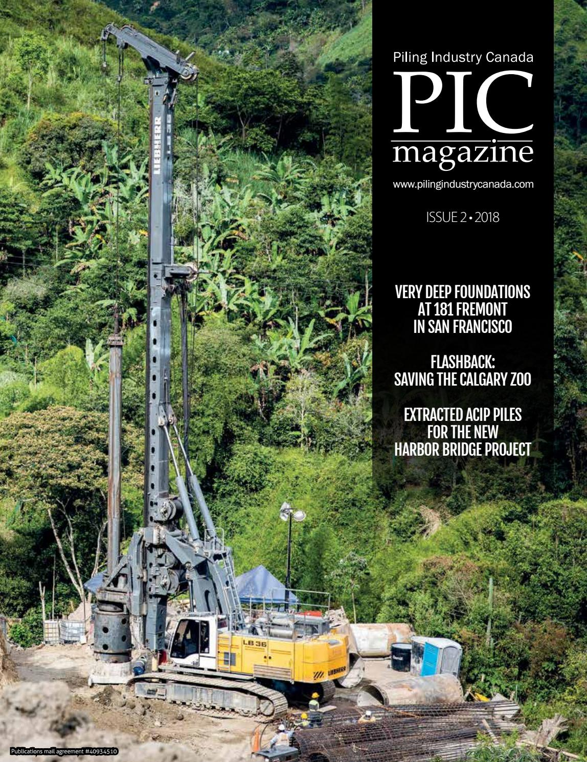 Piling Industry Canada Winter 2018 issue by DEL Communications Inc