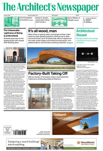 AN January 2019 - Special Timber Issue by The Architect's Newspaper
