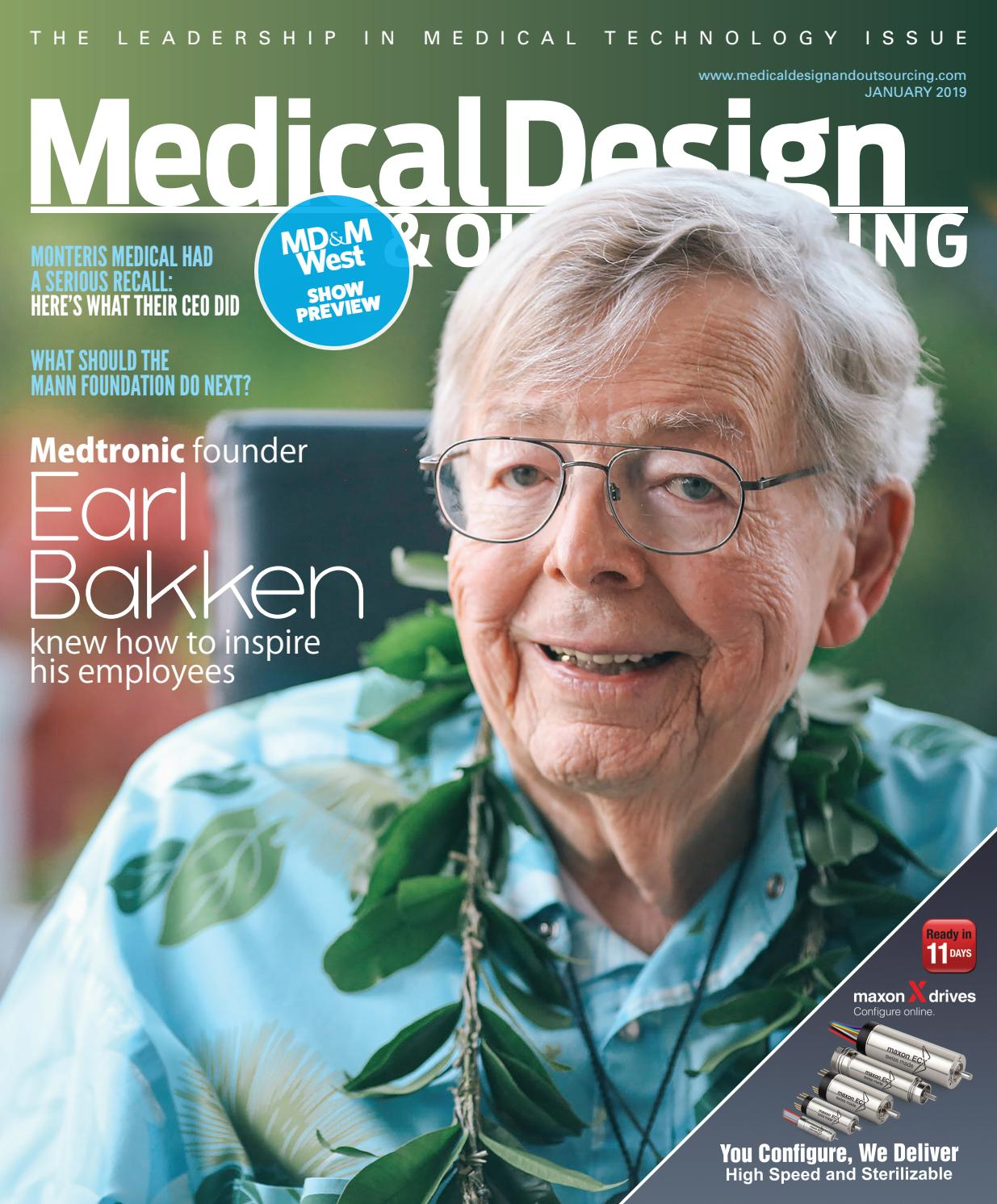 2eb4d563a6e2 Medical Design   Outsourcing - JANUARY 2019 by WTWH Media LLC - issuu