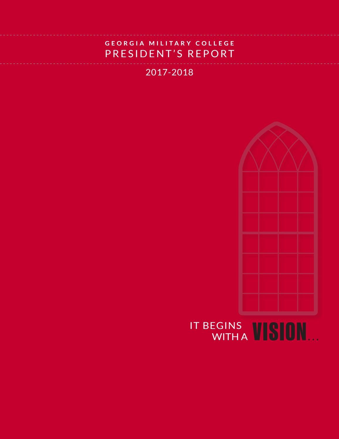 president s report 2017 2018 by georgia military college cadence issuu georgia military college