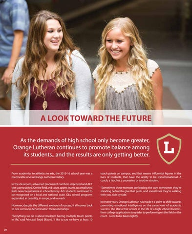Page 20 of A Look Toward the Future