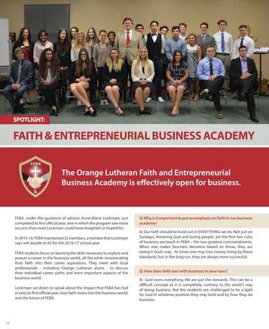 Page 28 of Spotlight: Faith & Entrepreneurial Business Academy