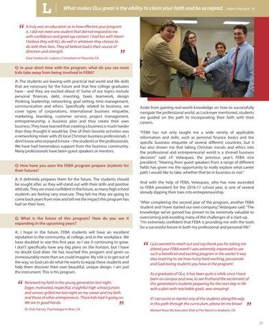 Page 29 of Spotlight: Faith & Entrepreneurial Business Academy