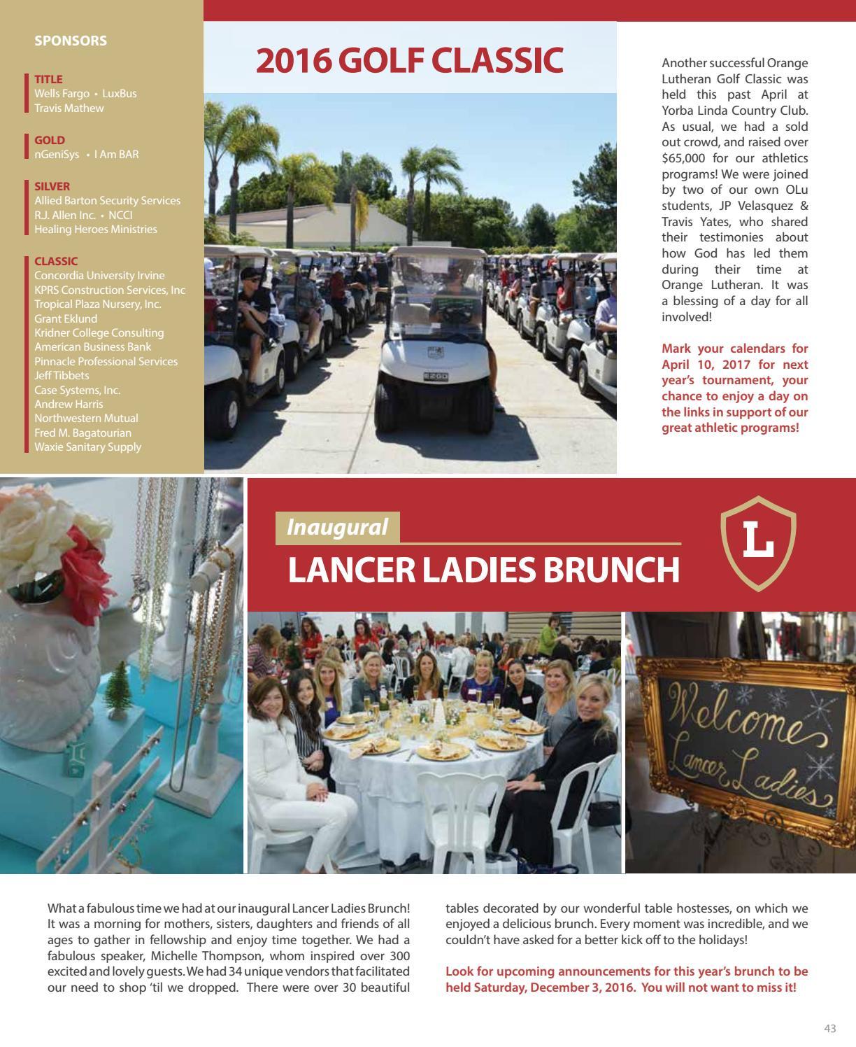 2015-16 Annual Report by Orange Lutheran High School - Issuu