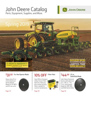 John Deere Spring Parts Catalog 2019 by teamsi - issuu