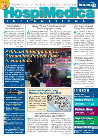 HospiMedica International January 2019 by Globetech - issuu