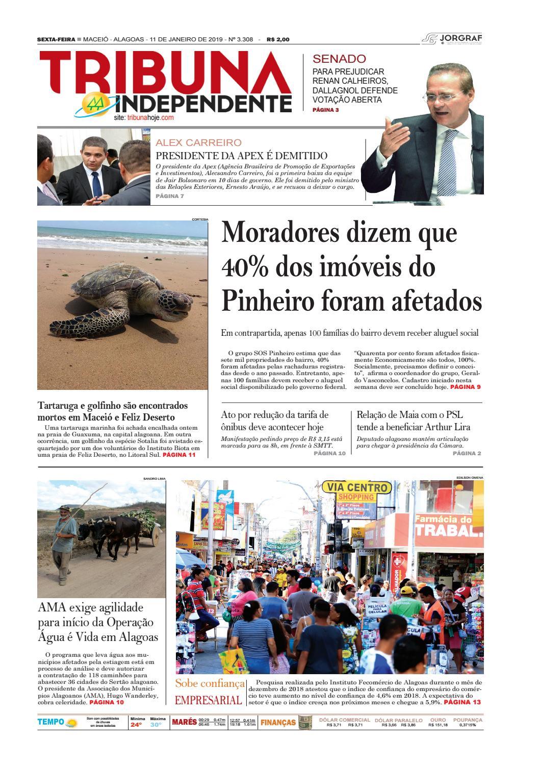 b4a24ea787b Edição número 3308 – 11 de janeiro de 2019 by Tribuna Hoje - issuu
