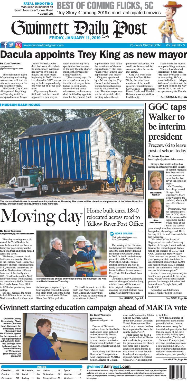 January 11, 2019 — Gwinnett Daily Post by Gwinnett Daily